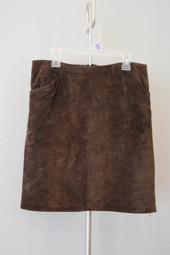 Yansi Fugel Size 8 Suede Pencil Skirt