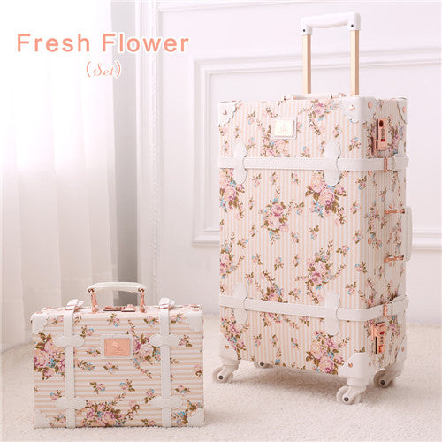 Girl Floral Vintage Trolley