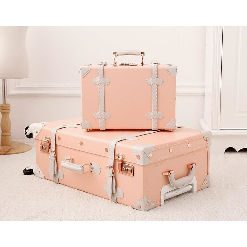 Leather Girls Vintage Suitcase Sets