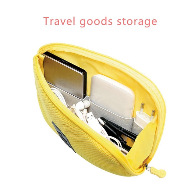 Portable Electronics Organizer Bag