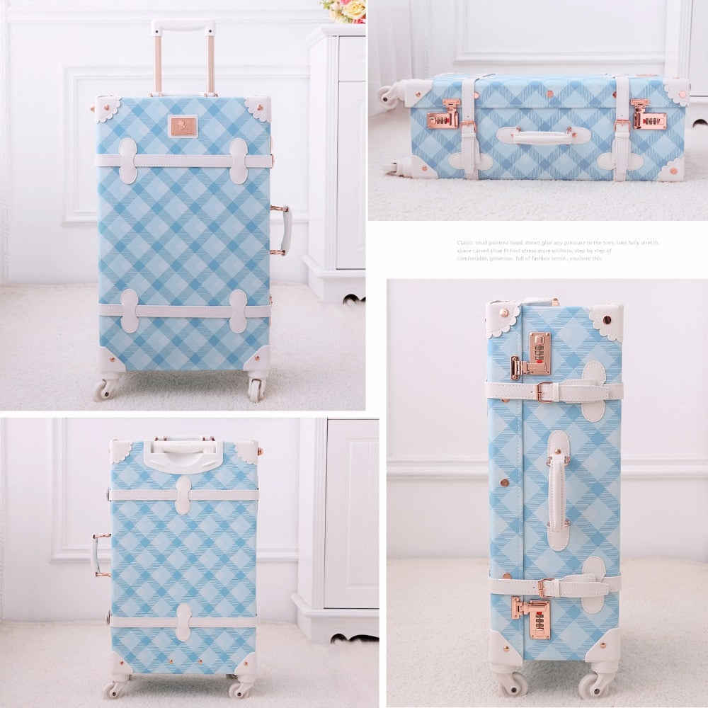 Retro Light Blue Luggage