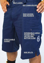 Load image into Gallery viewer, Work Shorts - Spandex Crotch - Cotton Drill - Multiple Pockets