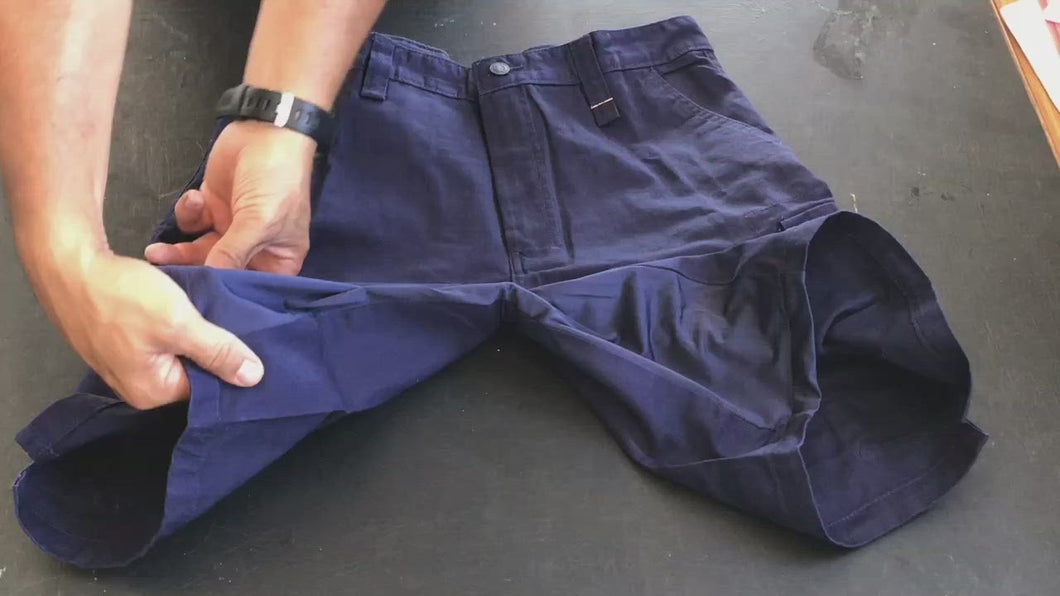 Work Shorts - Spandex Crotch - Cotton Drill - Multiple Pockets