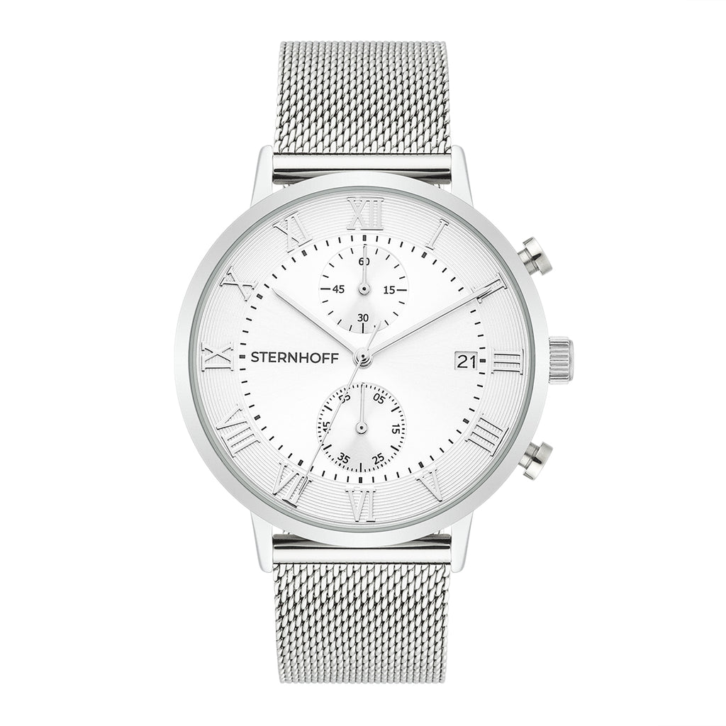 Gents watch silver silver