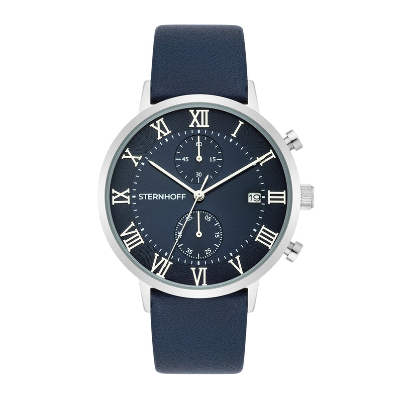 Gents watch dark blue silver