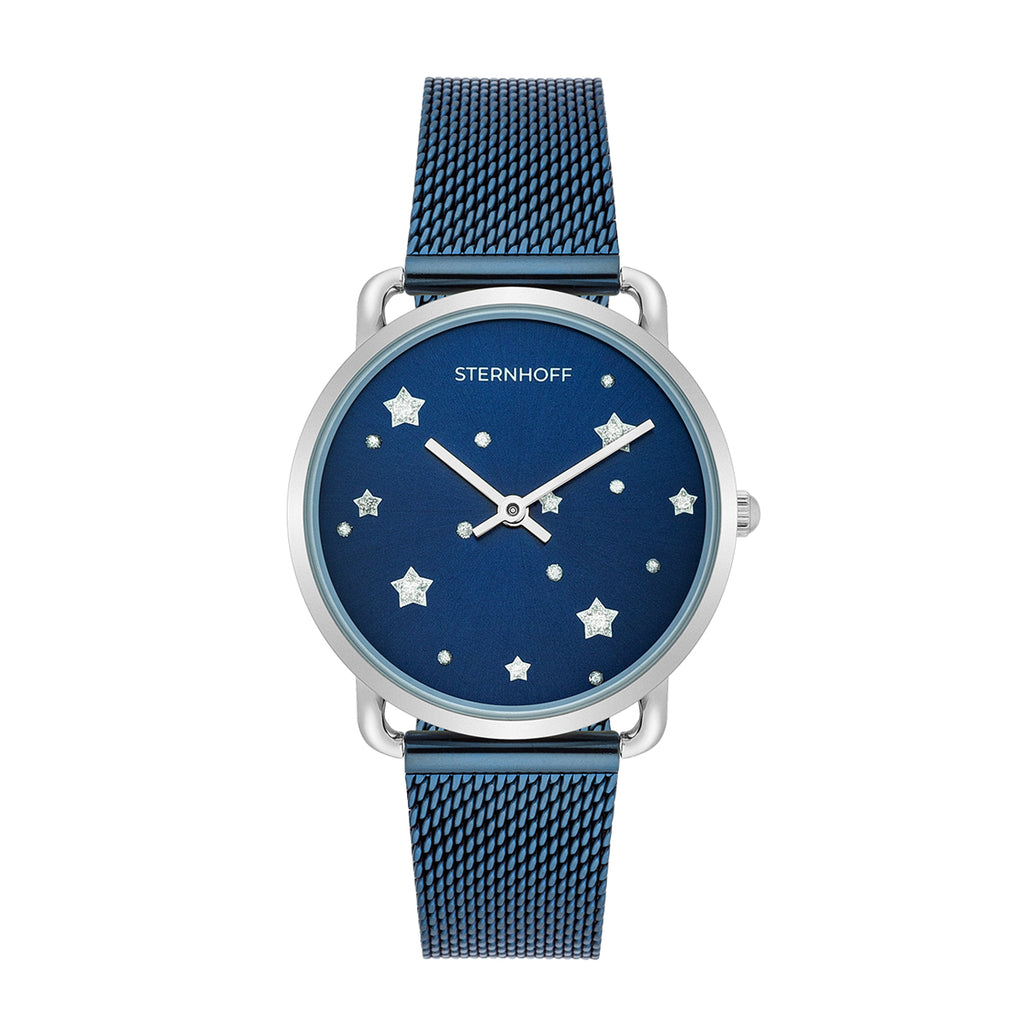 Ladies watch dark blue silver