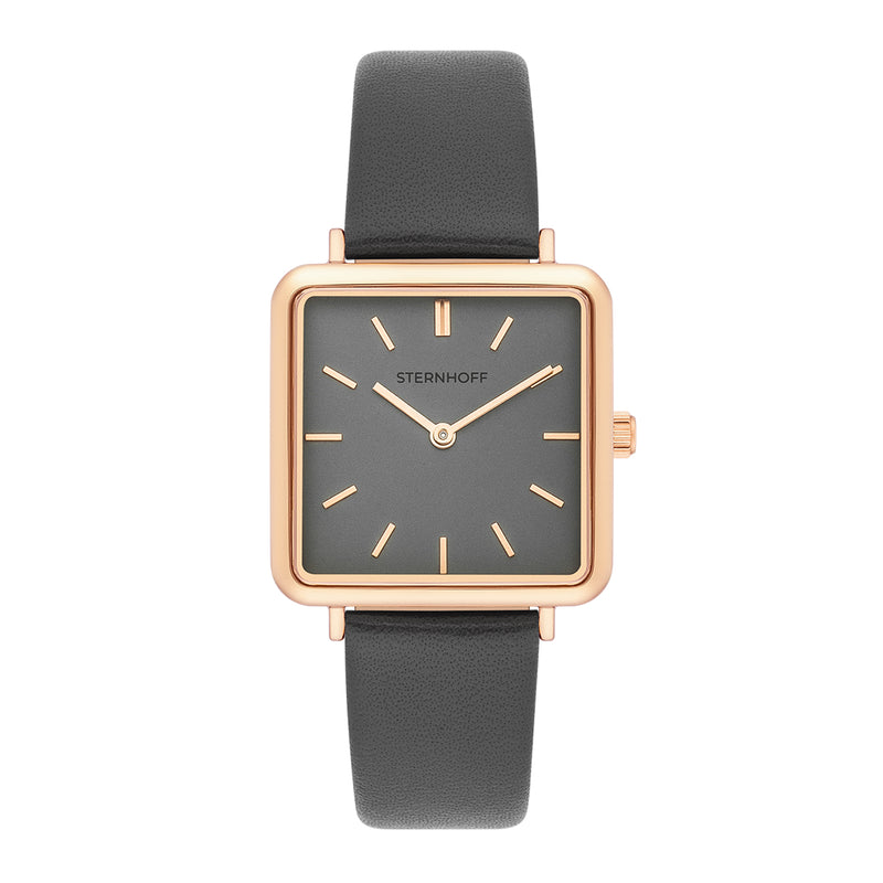 Ladies watch grey rosé gold