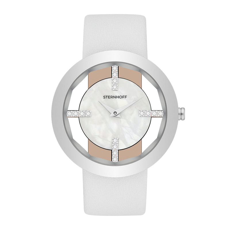 Ladies watch white silver