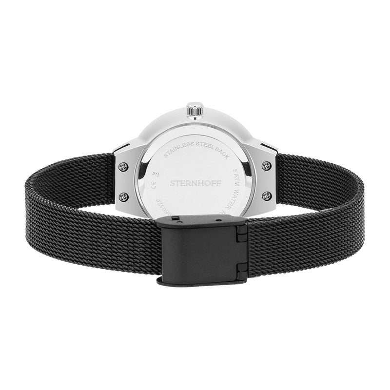 Ladies watch black silver