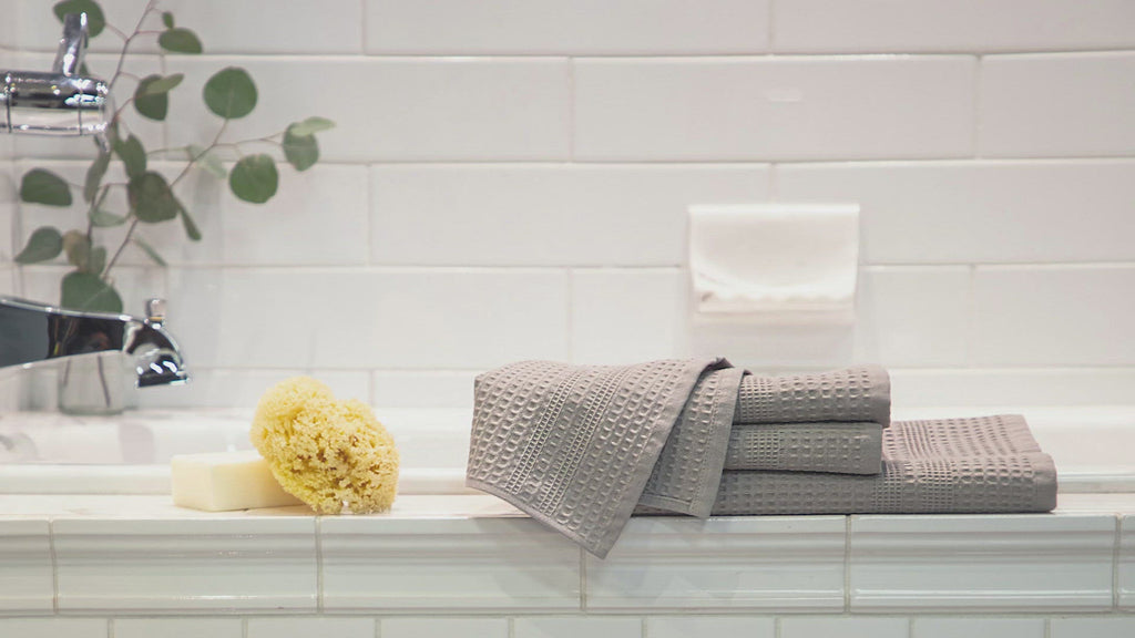 Gilden Tree waffle weave bath towels are like nothing you've ever experienced before. Watch to see the many benefits. You'll never go back to ordinary towels.