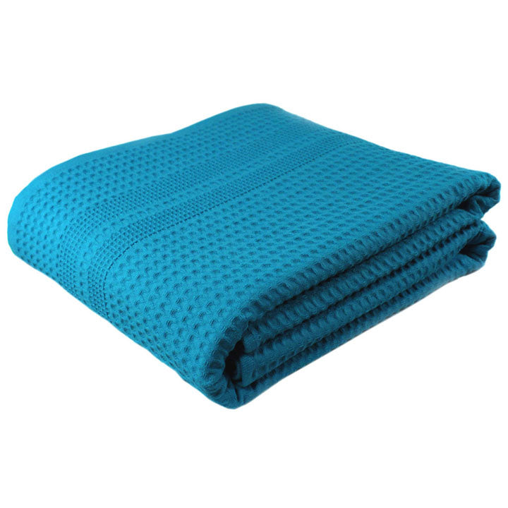 Oversized Bath Towels | Aqua Waffle Bath Sheet