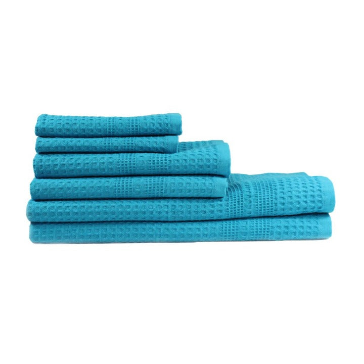 Bath Towel Set | Aqua Waffle Bath Towel Set Gift Idea