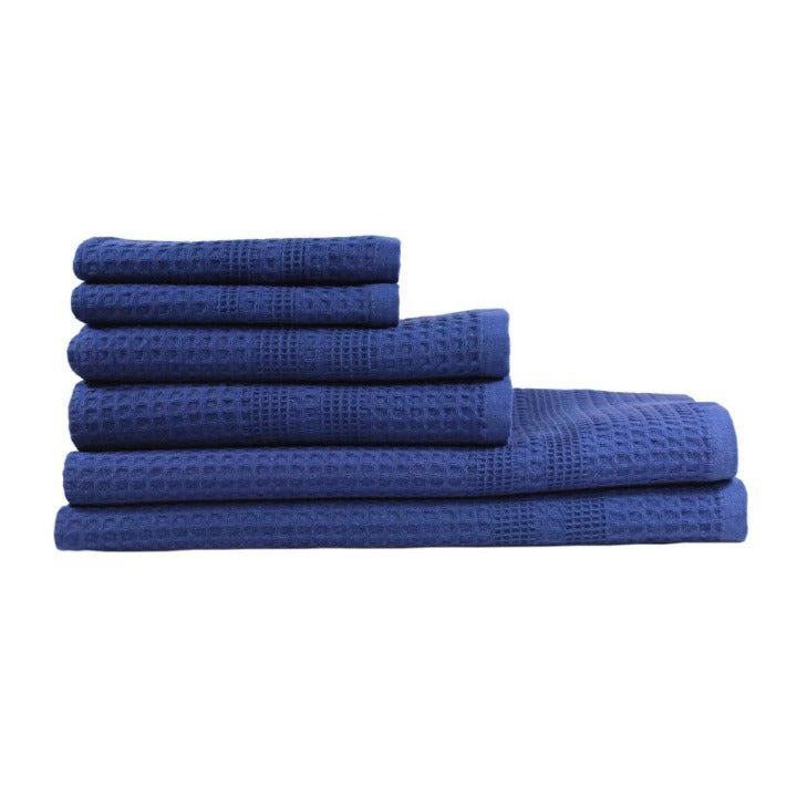 Gilden Tree | Bath Towel Set | Indigo Waffle Bath Towel Set Gift Idea