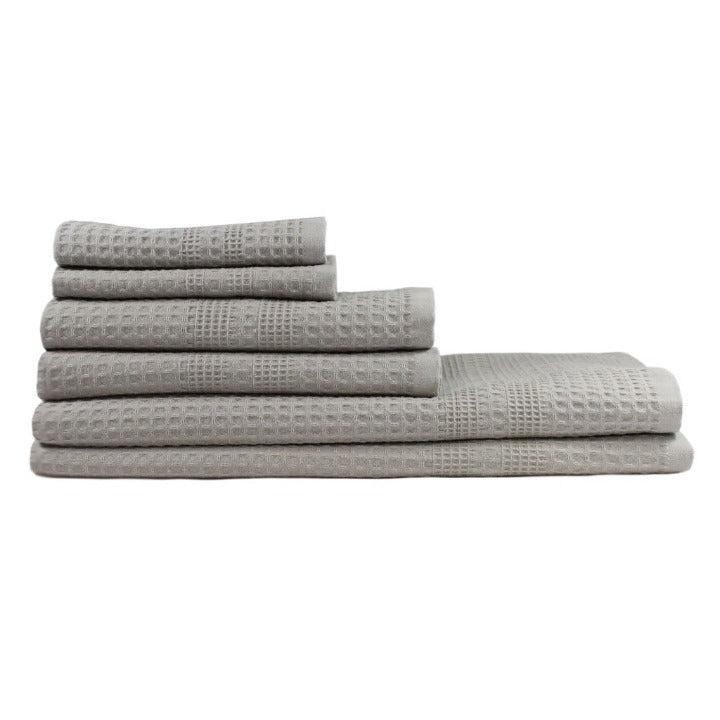 Gilden Tree | Bath Towel Set | Pewter Waffle Bath Towel Set Gift Idea