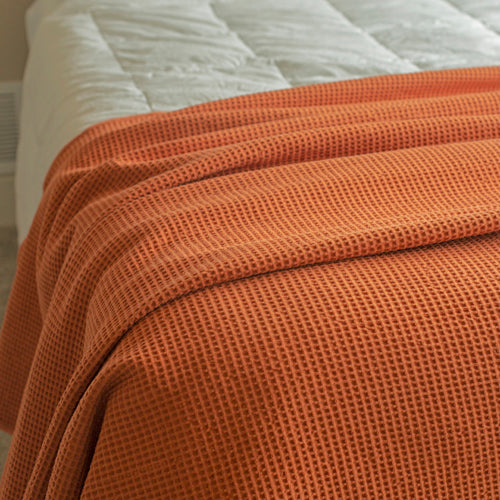 Gilden Tree | Throw Blanket | Terra Cotta Waffle Weave, 100% Cotton