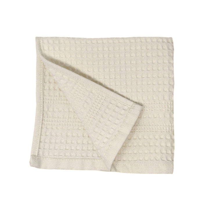 Gilden Tree | Waffle Bath Towels | Cream Wash Cloth