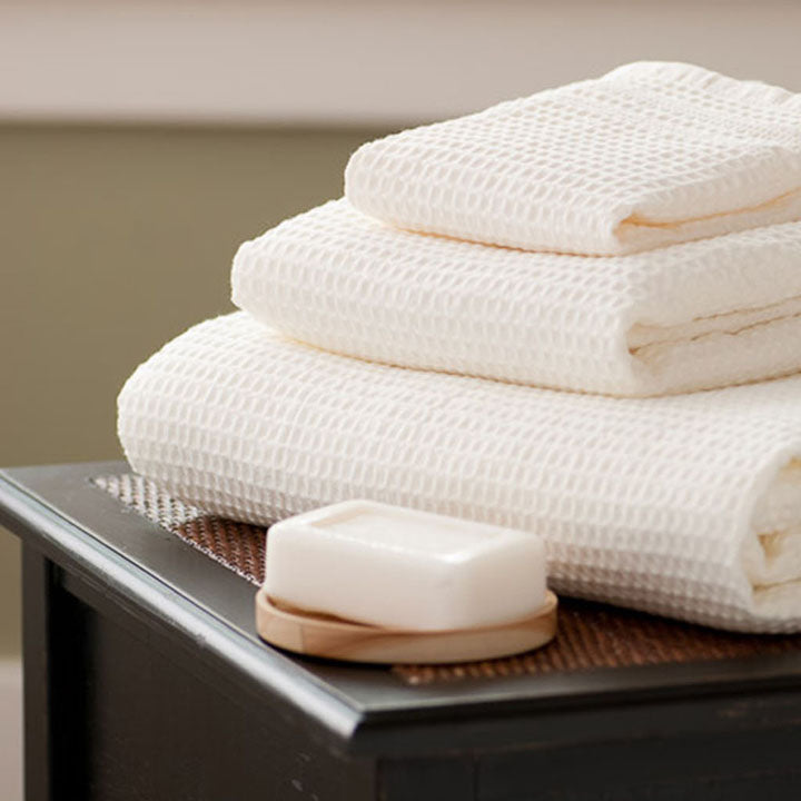 Gilden Tree | Waffle Bath Towels | Cream Bath Sheet