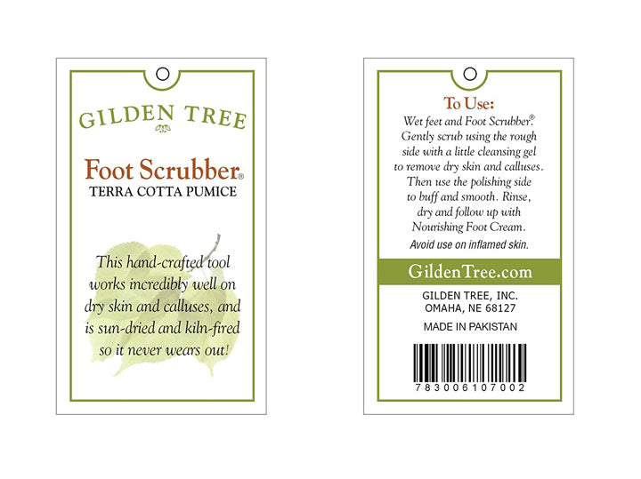Gilden Tree | Pumice Stones for Feet | Scrubbies for Feet - Heart Shaped