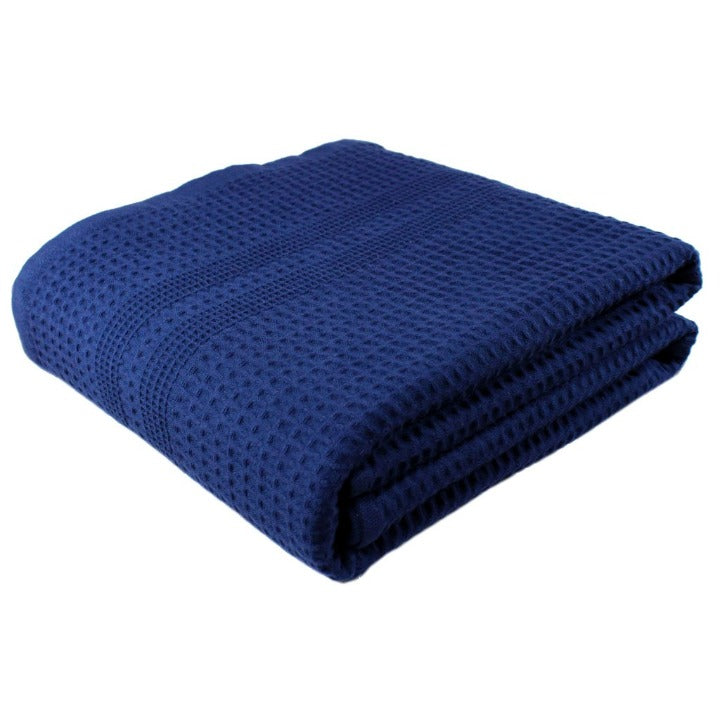 Gilden Tree | Oversized Bath Towels | Indigo Waffle Bath Sheet