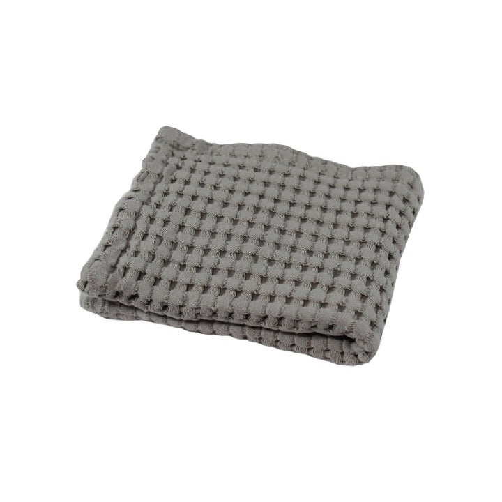 Gilden Tree | Waffle Bath Towels | Pewter Wash Cloth