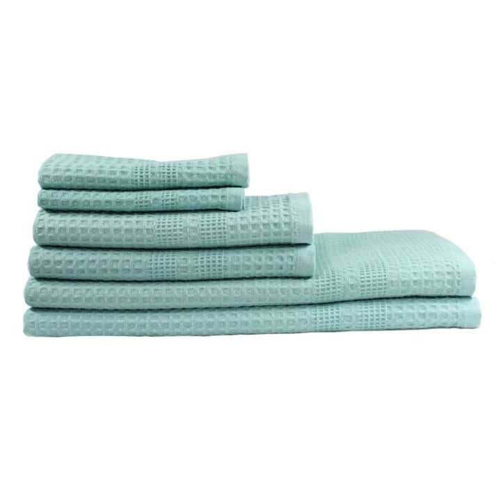 Gilden Tree | Bath Towel Set | Seafoam Waffle Bath Towel Set Gift Idea