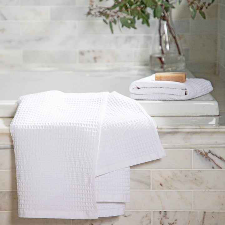 Gilden Tree | Waffle Bath Towels | White Bath Towel