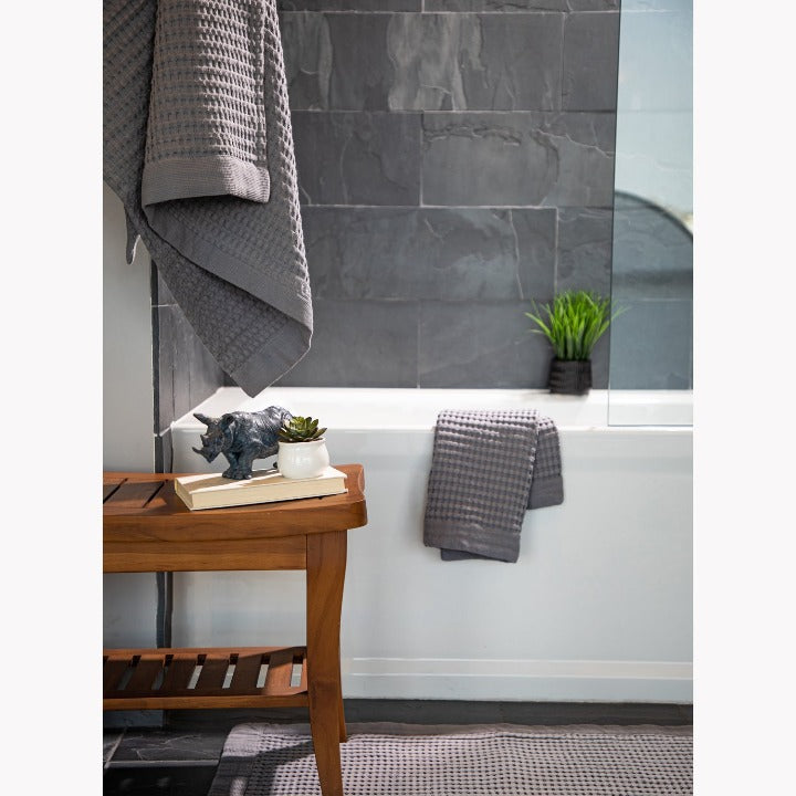 Gilden Tree | Bath Towel Set | Slate Waffle Towel Set