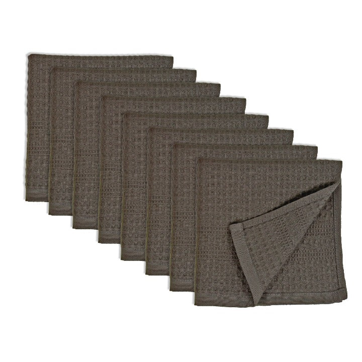 Quick dry waffle washcloth discounted pack of 8, bath towel set