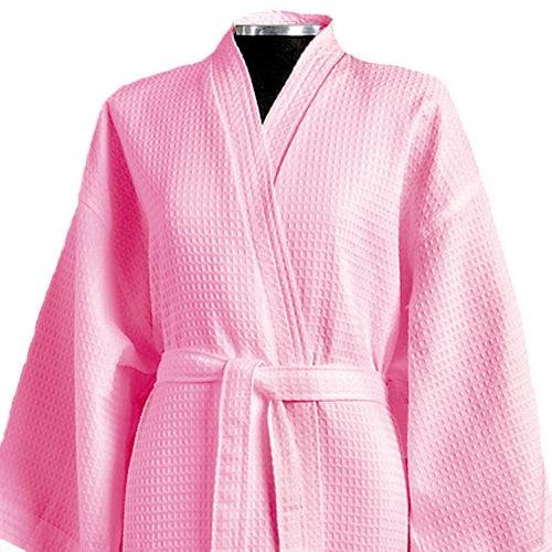 Waffle Weave Kimono Spa Robe in a limited edition pink color - how fun!