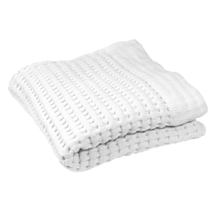 Gilden Tree | Waffle Bath Towels | White Hand Towel