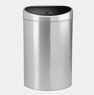 BRABANTIA TOUCH BIN RECYCLE, 10/23 LITRE - MATT STEEL FINGERPRINT PROOF
