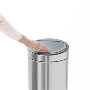 BRABANTIA TOUCH BIN NEW, 30 LITRE  MATT STEEL FINGERPRINT PROOF