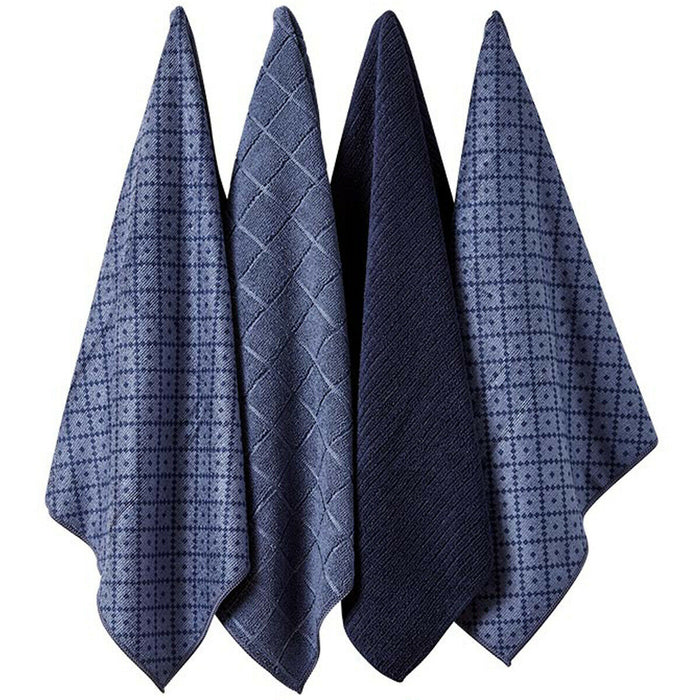 LADELLE Set of 4 Microfibre Tea Towels