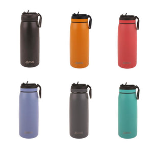 Oasis Hydration 780ml Sports Bottle Stainless Steel Double Wall Insulated Drink Bottle with straw