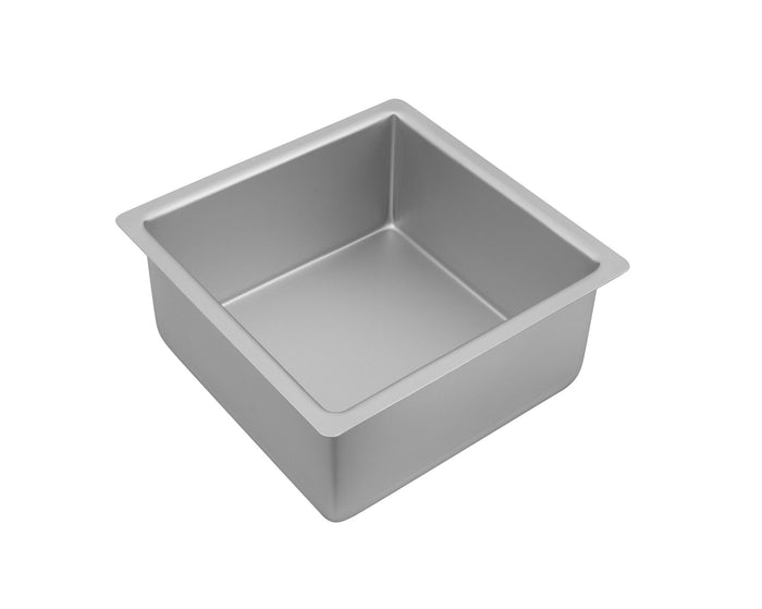 BAKEMASTER Silver Anodised Square Deep Cake Pan 20 x 10cm