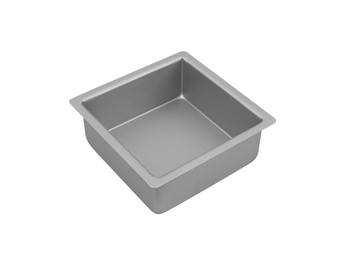BAKEMASTER Silver Anodised Square Cake Pan  22.5 x 7.5cm