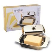 Appetito Stainless steel Butter dish