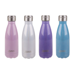Oasis 350ml Hydration Drink Bottle double wall stainless steel Lustre