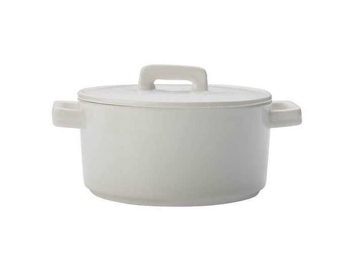 MAXWELL & WILLIAMS MW Epicurious Round Casserole 500ML White Gift Boxed