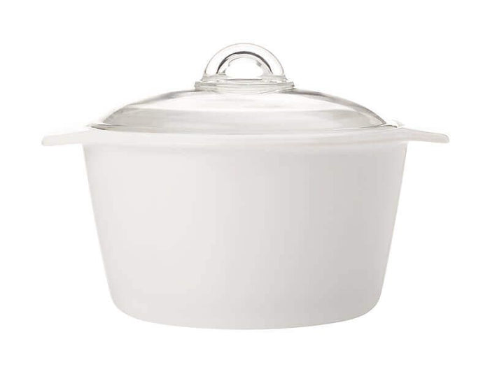 MAXWELL & WILLIAMS MW Vitromax Round Casserole 3L White Gift Boxed