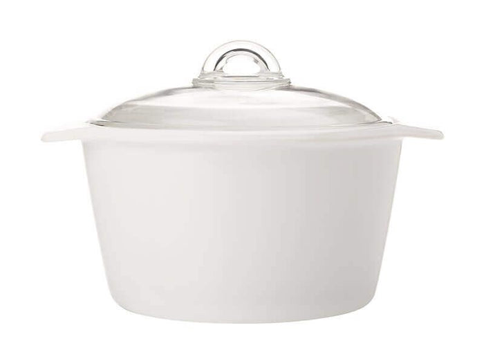 MAXWELL & WILLIAMS MW Vitromax Round Casserole 5L White Gift Boxed