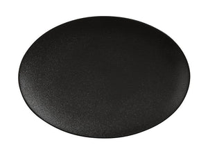 MAXWELL & WILLIAMS MW Caviar Oval Plate 30x22cm Black