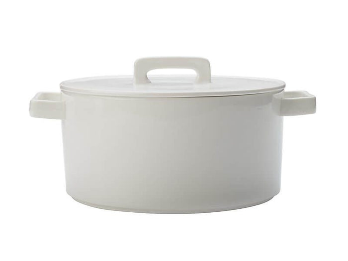 MAXWELL & WILLIAMS MW Epicurious Round Casserole 2.6L White Gift Boxed