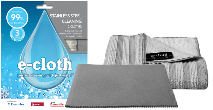 E CLOTH Stainless Steel Cloth Twin Pack