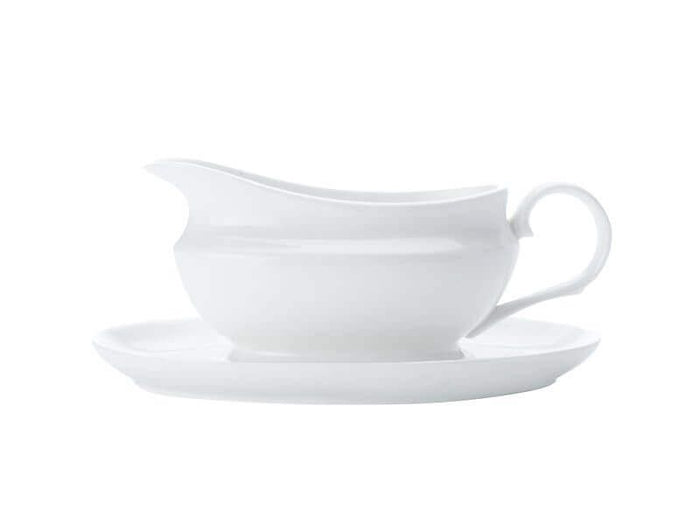 MAXWELL & WILLIAMS  MW White Basics Gravy Boat & Saucer 550ML Gift Boxed