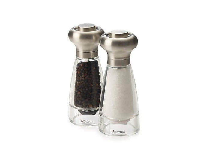 MAXWELL & WILLIAMS MW Dynasty Stainless Steel Salt & Pepper Mill Set 16cm Gift Boxed