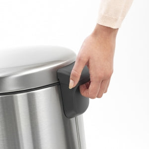 BRABANTIA Pedal Bin newICON 20 LITRE, MATT STEEL FINGER PRINT PROOF