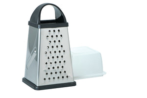 AVANTI Box Grater - 4 sided with Storage Box