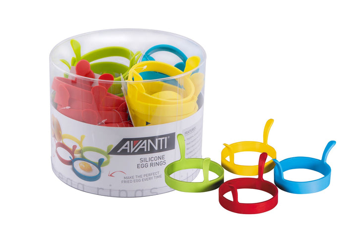 AVANTI Silicone Egg Rings with Handles