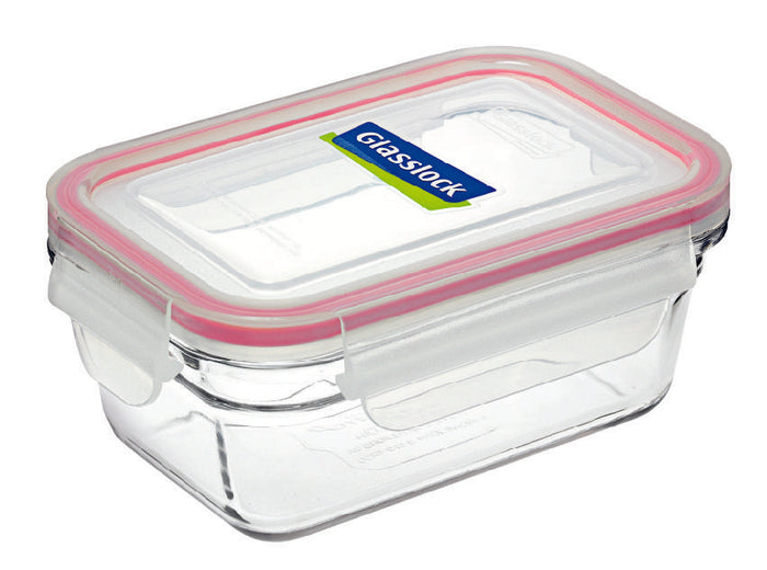 GLASSLOCK Rectangular Oven Safe Glass Container 970ml